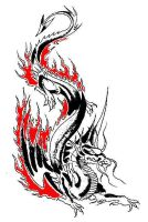 Dragon Tattoo design by tallon