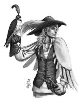 Sketch - Falconer by kagaminoir