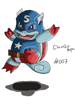 Squirtle X Capt.America by ChingORyu