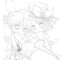 The Hatter and the Hare by firemockingjay