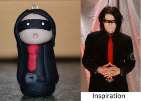 My Chemical Romance's Gerard Way Chibi Pendant by northy1982
