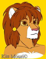 Lion Flat Color by KittMouri
