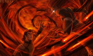Korra vs Kuvira The Last Battle by SolKorra