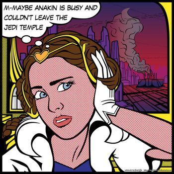 Star Wars PopArt: Padme Waiting by Bergie81