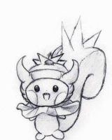Pachirisu x Slowking by YourFaceIsFunny