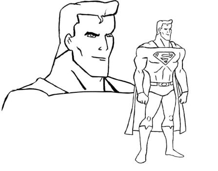 Animated Superman Design BW by BIGBMH