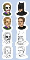 Basty and The Joker Busts by GothicSky