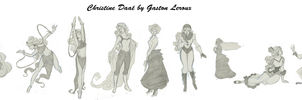Christine Daae (cartoon) by Gaston Leroux by PetiteEtoileSadique