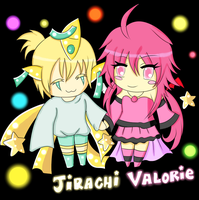 Jirachi and Valorie by FluffyAndSweet