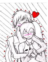 kaito and miku hug with backro by autumn2010