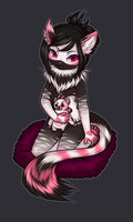 Calavera chibi commission Wolvesdance/Gizzy by Siraviena