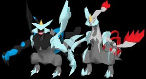 Bw Kyurem Models to papercraft by javierini
