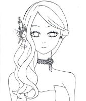 My fair lady Adeiona(free line art) by chubbycheeksmylove