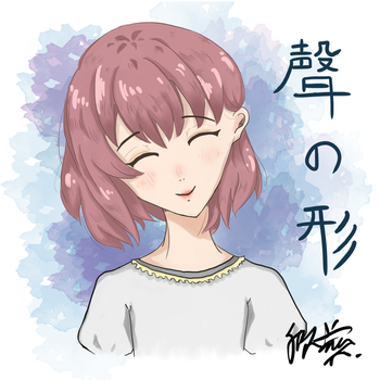 Fanart: Shoko from a silent voice by SinZhi