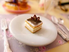 Tiramisu miniature by LittlestSweetShop