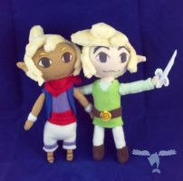 Link and Tetra Plush by dolphinwing