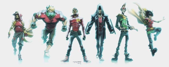 WE ARE ROBIN: Character Line Up by E-Mann