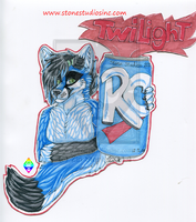 Twilight Drink Badge Commission by ZinStone