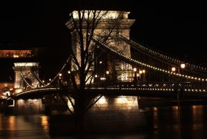 Chain Bridge Night Photo by jmotes