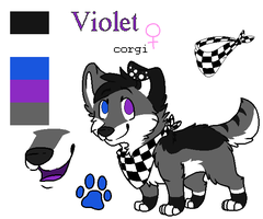 Fursona ref for Phsycadelic-Violet by RegallyFlawed