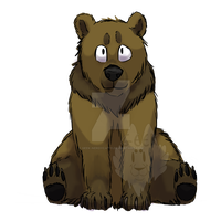 Bear- coloured and shaded sketch by Geek-NerdyCat11