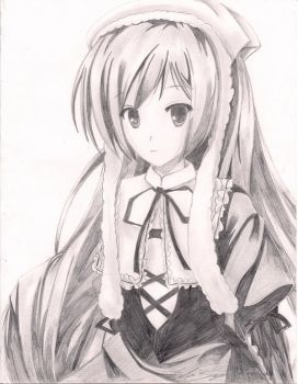 Rozen Maiden Girl in Pencil by amber-greggy