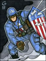 WWII Captain America by grantgoboom