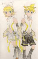 Rin And Len Append by BlazingSapphireCat