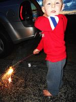 Chase's First Sparkler by livinglove99