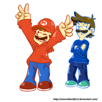 Red And Blue by MariobrosYaoiFan12
