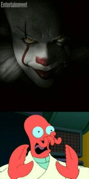 Zoidberg's reaction to the new Pennywise. by Epic-wrecker