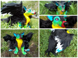 Toucan Wooof Art Doll by SaltyPuppy