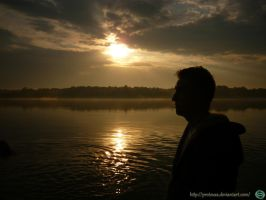 Golden Sunset with Me :D Tychy by Proteusz