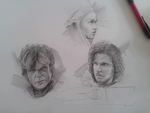 Games of Thrones Characters by likaon0303