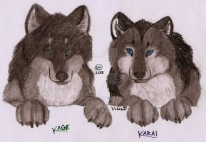 Twins as Pups by Karai0318
