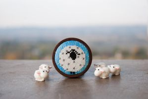 Lamb brooch by freedragonfly