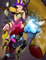 Piltover's Finest - Caitlyn and Vi by xemperatrizx