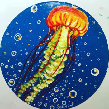 Vinyl Art-Jellyfish by Aleksi-Ann