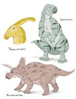 Dinosaurs by UrsusArctos