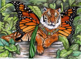 Monarch- King of the Jungle by ladystonehawk