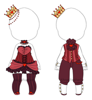 Royal Hearts, Outfit Adopts [CLOSED] by XAngelFeatherX