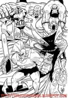 Savage Dragon, Spawn, Die Hard, Maul and The Maxx by violencejack666