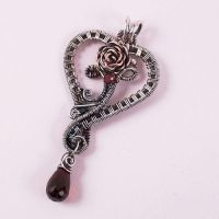 Lola 3 Heart Pendant by Wiresculptress