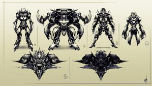 Concept/Mecha shapes by Jun-OH