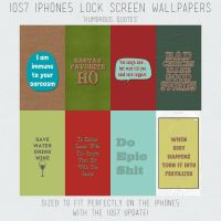 IOS7 Iphone 5 Lock Screen Wallpaper Quotes by HGGraphicDesigns