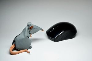 Origami Rat and computer mouse by HTQuyet