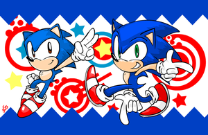 Sonic 20 pose by NkoGnZ