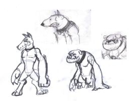 Diamond Dogs Sketches 01 by Velgarn