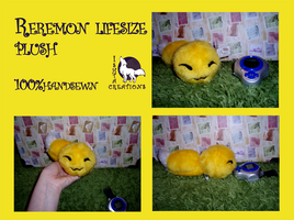 Reremon lifesize plush SOLD, accepting commissions by WolfPink