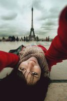 Selfportrait with Eiffel by irrr